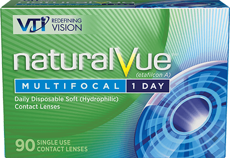 Don't reach for readers. Reach for NaturalVue® Multifocal 1 Day Contact Lenses